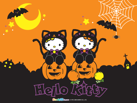 HELLO KITTY HALLOWEEN - happy, halloween, kitty, hello