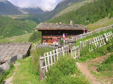 Maso alpino - alps, maso, montagna, farm, alpi, mountain, panorama