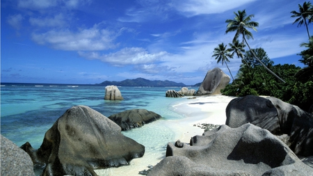 LaDigue Island - island, sand, sky, beach