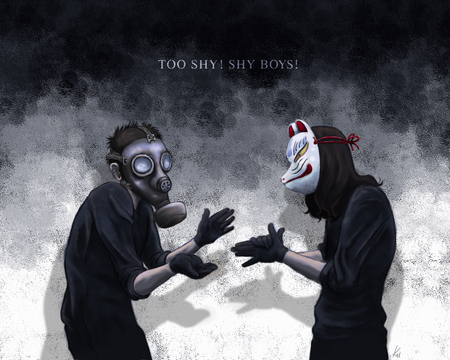 Too shy ! Shy boys ! - Other & Anime Background Wallpapers ...