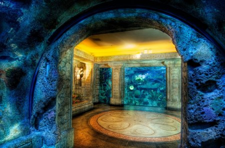 Shark Reef Aquarium - cave, aquarium, shark, reef
