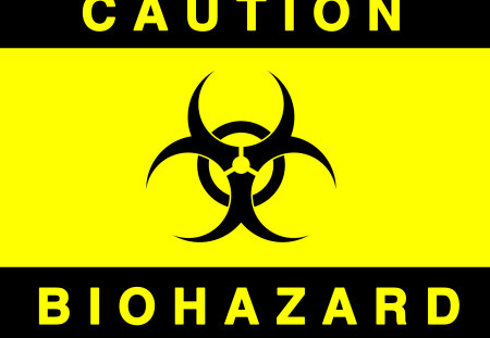 CAUTION: BIOHAZARD - biohazard symbol, death, abstract, biohazard logo, warning, sign, caution, danger, biohazard