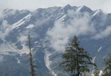 snow mountain - shilong valley, mountain, manali, snow