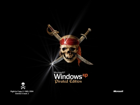 Windows XP - Pirated Edition - pirated, windows, pitated edicion, micr, windows xp, microsoft, pirated edition