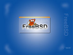 Blue FreeBSD Wallpaper