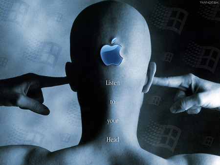 Apple - Listen To Your Head - listen to your head, apple, head