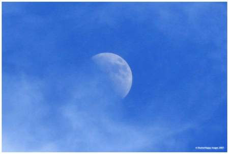 Daytime moon - moon, desktop, sky, other, people
