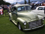 GMC truck 1951 in Radium Hot Springs car show 31