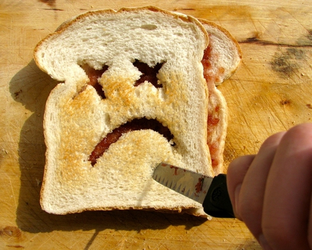 Toasticide... - toasticide, comedy, photography, dark, sad, abstract, funny, unusual, cute, toast, morbid, foods, humor, death