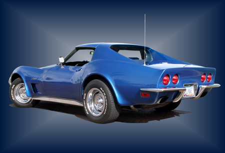 Corvete Stingray - corvette, 1973, chevrolet, stingray, blue