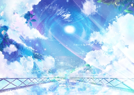 ocean sky bridge other amp anime background wallpapers on