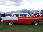 Chevrolet 1955 belair in Radium Hot Springs car show 80