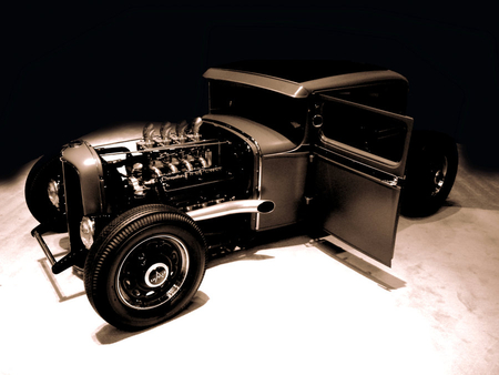1932 FORD HOT ROD - 1932, ford, black, hot rod, car