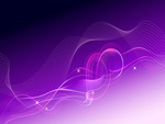 Abstract Purple Wavy and Knoty Dream