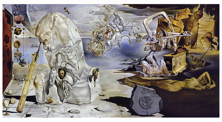 The Apotheosis of Homer f2 - collage, abstract, painting, art, surreal, wide screen, surrealism, dali, artwork, surrealist, salvador dali