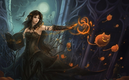 Sending the Minions - art, halloween, magic, fantasy