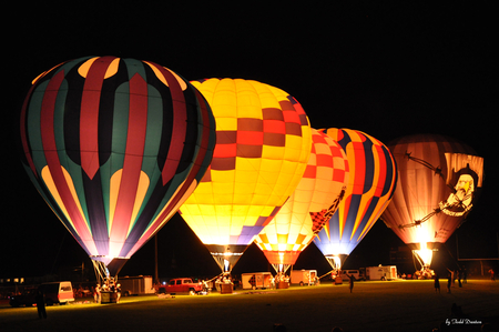 Night Glow 2011 - balloons, hot air balloons at night, hot air balloons night glow, hot air balloons