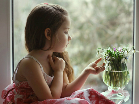 Snow Drops - girl, innocent, baby, cute, adorable, sweet, princess
