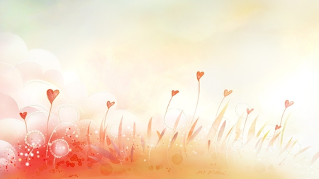 Hearts Blooming - flowers, summer, spring, abstract, bright, hearts, valentines, firefox persona