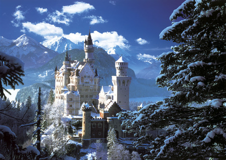 Neuschwanstein Castle - neuschwanstein castle, arquitecture, germany, castle, bavaria