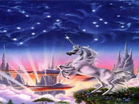 THE LEAP - unicorn, other, abstract, astrology, fantasy