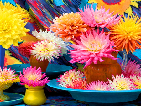 Flowers - flowers, summer, beautiful, colorful, colors, pretty, lovely, harmony, nice