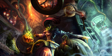 Headless Horseman Wallpaper - world of warcraft, pumpkins, headless horseman, hallows end