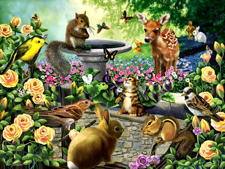 Garden Animals Harmony Fcmp In Design Ideas