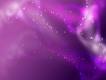 Abstract Dance of Purple Raindrops