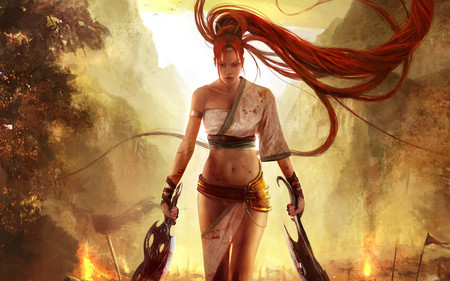 The Warrior Girl !!! - girl, wds, warrior, widescreen, abstract, mad, fantasy