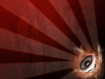 Speaker Vector - cool, red, music, abstract, speaker, vector, awesome