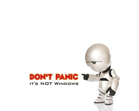 dont panic - dont panic, linux, white