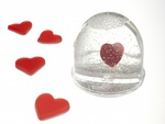 Hearts In A Snow Globe