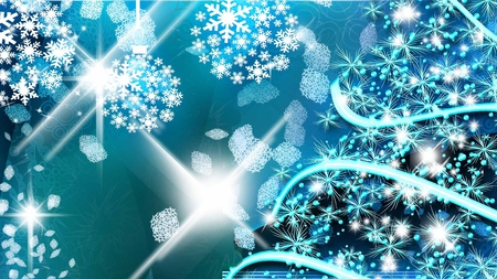 Blue Blue Christmas - Other & Abstract Background Wallpapers on ...
