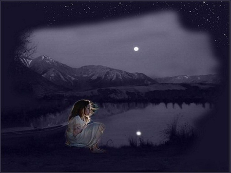 LONELY GIRL - Fantasy & Abstract Background Wallpapers on ...