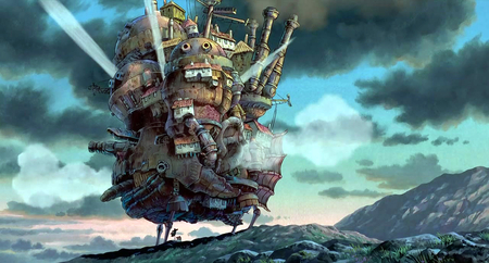 howls moving castle .. - howl, movie, moving, great, fire, magic, castle, anime
