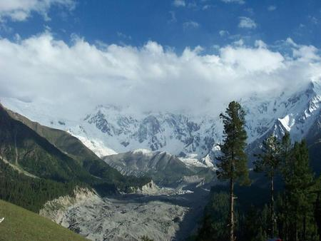 Nanga Parbat Mountain, Pakistan - mountains, nature, clouds, sky