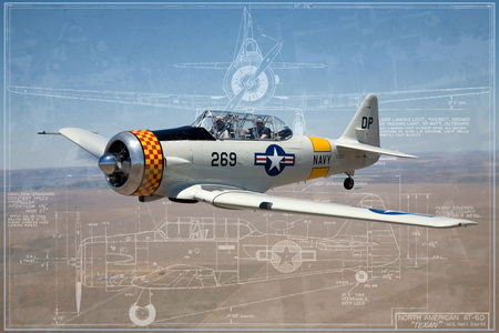 AT6 Blueprints - at-6, prints, plane, blue, airplane, t-6, wwii, north, trainer, t6, blueprints, american, at6, ww2, texan