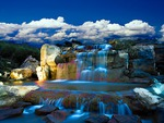Blue water cascade