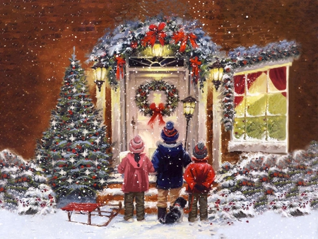 picture of christmas carolers