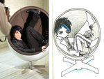 adam lambert in round chair