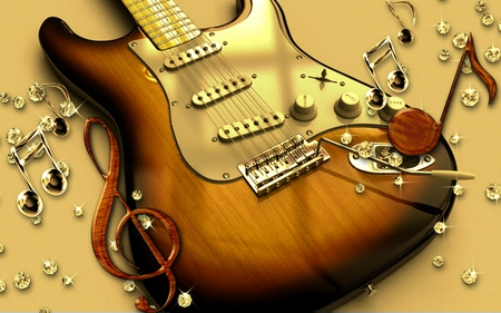 Guitar - cool, music, guitar, entertainment