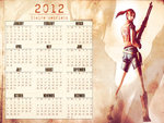 Claire Redfield 2012 Calendar
