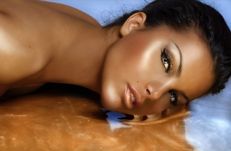chocolate beauty - models, eyes, beauty, tanned