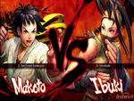 super street fighter 4: makoto vs ibuki