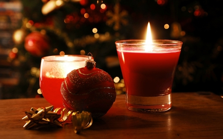 Christmas Candle - Photography & Abstract Background ...