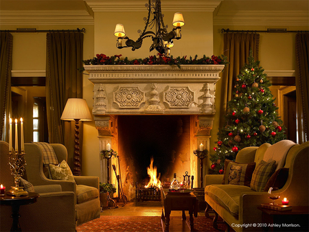 Christmas Houses Architecture Background Wallpapers On