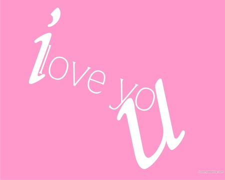 I Love U - girly, i love u i love you, pink, love, romance