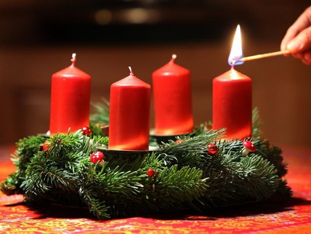 first candle - first, christmas, candle, advent