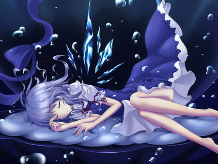 Magic dreams - sleep, dream, blue, girl, anime